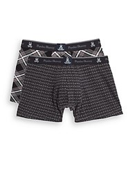 Psycho Bunny Printed Boxer Briefs Set Of 2 Grey Plaid