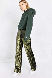 Silence And Noise Nora High Rise Sequin Trouser Pant Green