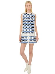 Courreges Woven Effect Vinyl Dress With Cutouts