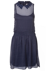 Ltb Della Summer Dress Navy Small Dots Dark Blue