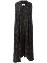 Maison Martin Margiela Checked Long Tartan Cape