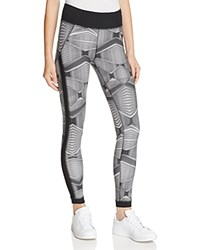 Zobha Fit Print Mesh Side Active Leggings Compare At 84 Black