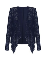 Mela Loves London Lace Waterfall Jacket Navy