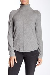 Cullen Quilted Turtleneck Sweater Gray