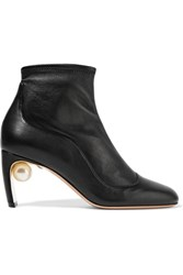 Nicholas Kirkwood Maeva Embellished Leather Ankle Boots Black