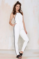 Nasty Gal Check The Rhyme Cutaway Jumpsuit