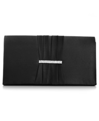 Style And Co. Cara Satin Clutch Black