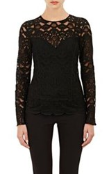 Barneys New York Lace Top Black