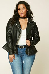 Forever 21 Plus Size Quilted Moto Jacket