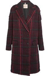 Tod's Houndstooth Boucle Coat Red