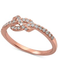 Macy's Diamond Knot Band 1 4 Ct. T.W. In 14K Rose Yellow Or White Gold Rose Gold