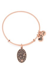Women's Alex And Ani 'I Love You Mom' Expandable Wire Bangle Rose Gold