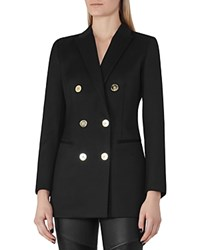 Reiss Lavinnia Double Breasted Blazer Black