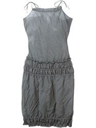 Romeo Gigli Vintage Ruched Detail Mini Dress Grey