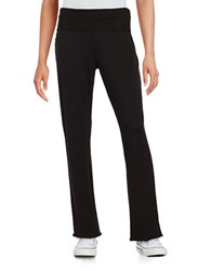 Marc New York Fold Over Knit Pants Black