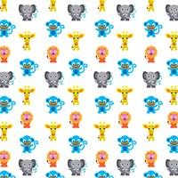 Wallcandy French Bull Jungle Party Temporary Wallpaper