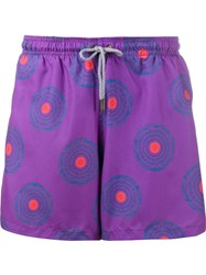Okun Circle Print Swim Shorts Pink And Purple