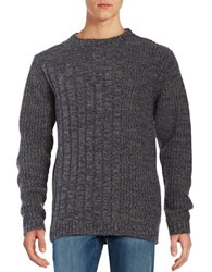 Roamers And Seekers Fisherman Knit Sweater Denim