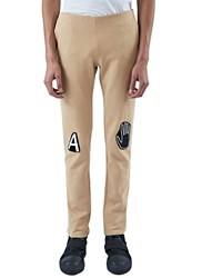 Von Sono Slim Jersey Patch Pants Beige