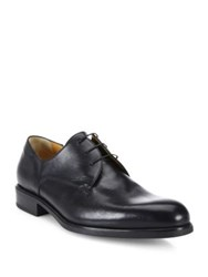 A. Testoni Leather Lace Up Derby Shoes