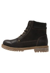 Tom Tailor Laceup Boots Espresso Dark Brown