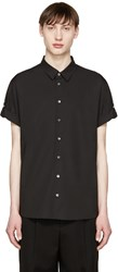 3.1 Phillip Lim Black Poplin Fisherman Shirt