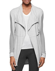 Calvin Klein Jeans Draped Flyaway Cardigan Iconic Heather
