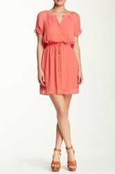 Daniel Rainn Wrap Dress Pink