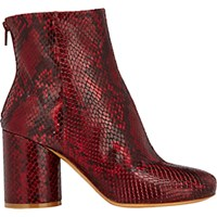 Maison Martin Margiela Women's Cylindrical Heel Ankle Boots Red
