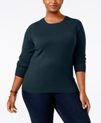Charter Club Plus Size Cashmere Crewneck Sweater Only At Macy's Admiral Navy