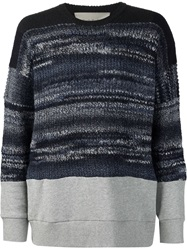 Casely Hayford Marled Chunky Knit Sweater Grey