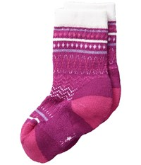Smartwool Diamond Flush Crew Berry Women's Crew Cut Socks Shoes Burgundy
