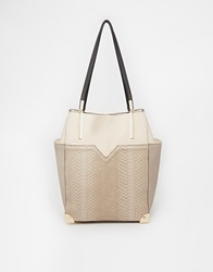 New Look Serena Side Pocket Shopper Mink