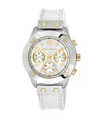 Vince Camuto Leather Strap Watch White