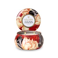 Voluspa Maison Jardin 2 Wick Candle In Tin Yuzu Rose Stonecrop