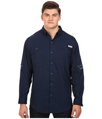 Columbia Tamiami Ii L S Big Collegiate Navy Men's Long Sleeve Button Up