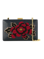 Serpui Embroidered Clutch Bag Black