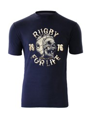 Raging Bull Rugby For Life T Shirt Navy
