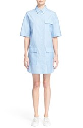 Grey Jason Wu Women's Stripe Cotton Shirtdress