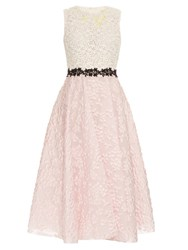 Giambattista Valli Floral Lace And Cloque Jacquard Dress Light Pink