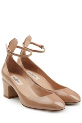 Valentino Patent Leather Tan Go Pumps Beige