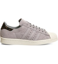 Adidas Superstar 80S Leather Trainers Grey Tortoise Shell
