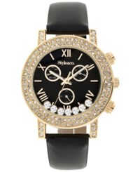 Styleandco. Style And Co. Women's Boyfriend Black Strap Watch 38Mm Sy008gbk Only At Macy's