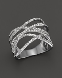 Bloomingdale's Diamond Crossover Ring In 14K White Gold .55 Ct. T.W.
