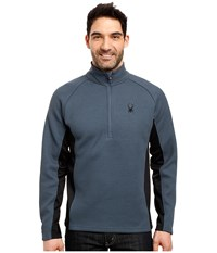 Spyder Outbound Half Zip Mid Weight Core Sweater Union Blue Black Union Blue Men's Long Sleeve Pullover Navy