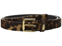 Lauren Ralph Lauren 1 Haircalf Belt W Side Bar Roller Buckle And Logo Keeper Plaque Leopard Women's Belts Animal Print