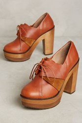Anthropologie Cubanas Colorblock Platforms Peach