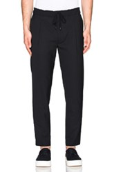 Public School Acklin Suiting Straight Leg Track Pants In Black
