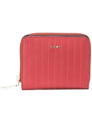 Dkny Zip Around Wallet Red