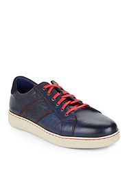 Robert Graham Murphy Leather Sneakers Blue